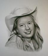 pencil portrait girl