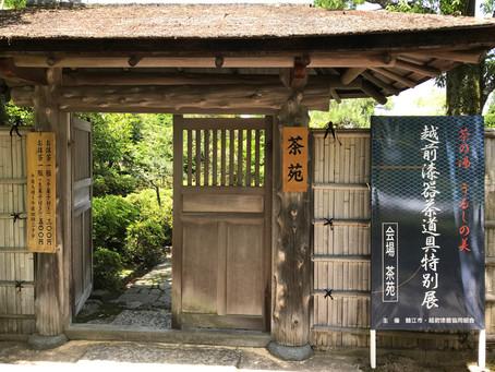 越前漆器 茶道具特別展が開催されました【5/26~28】