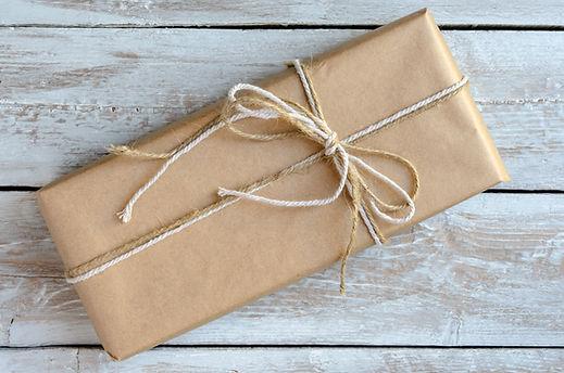 Papier verpakte doos