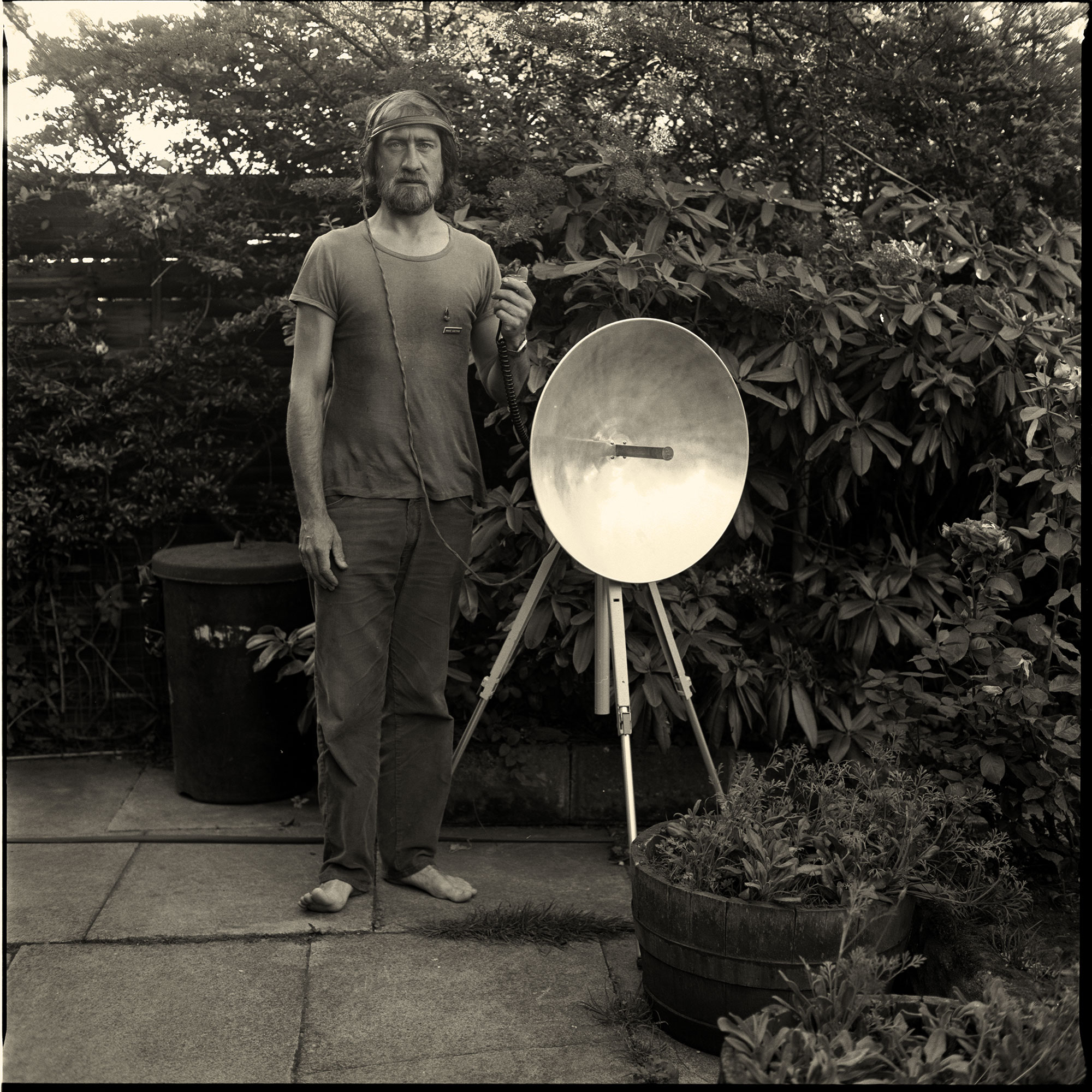 Man With Microwave Transmitter