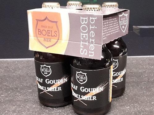 Clipje van 4 flesjes Boelsbier: Authentiek, Straf Gouden of Gemengd