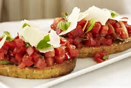 Brushetta on Crostini