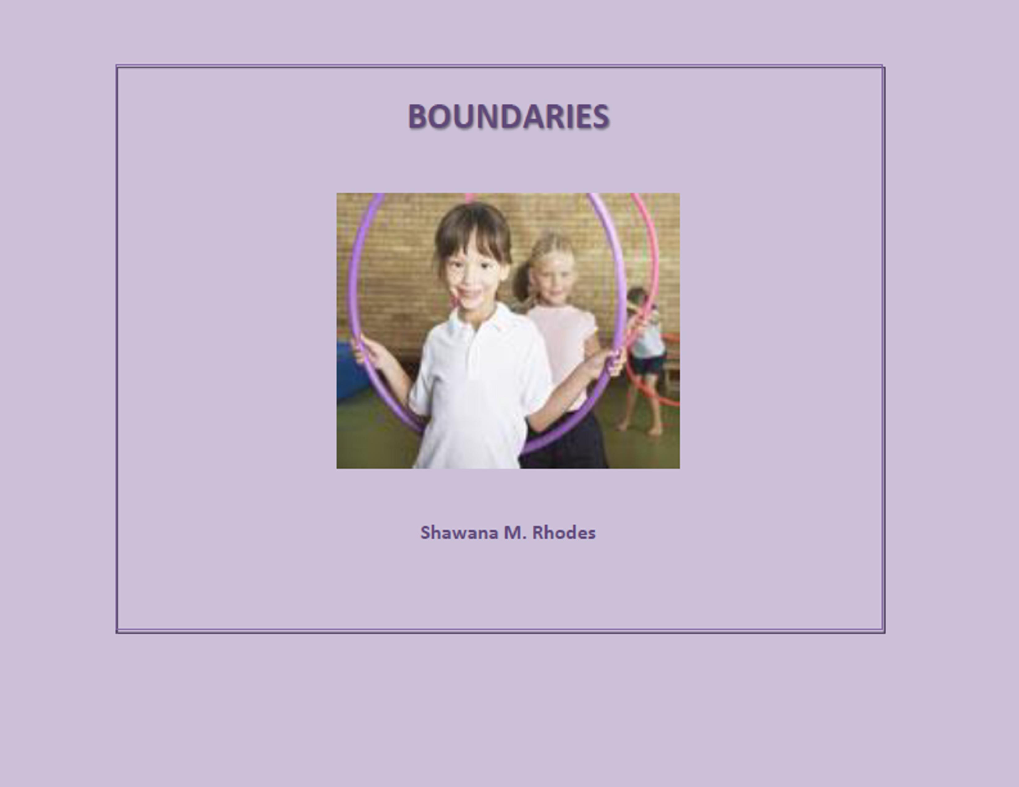 Teaching kids about boundaries book.
