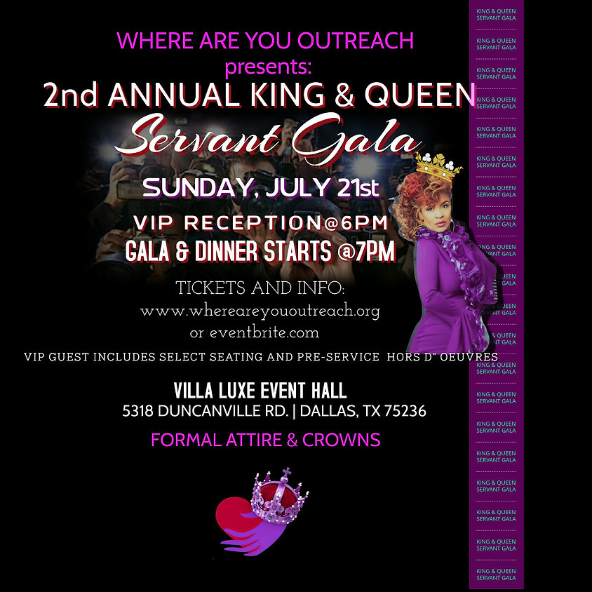 KING AND QUEEN SERVANT GALA 2019