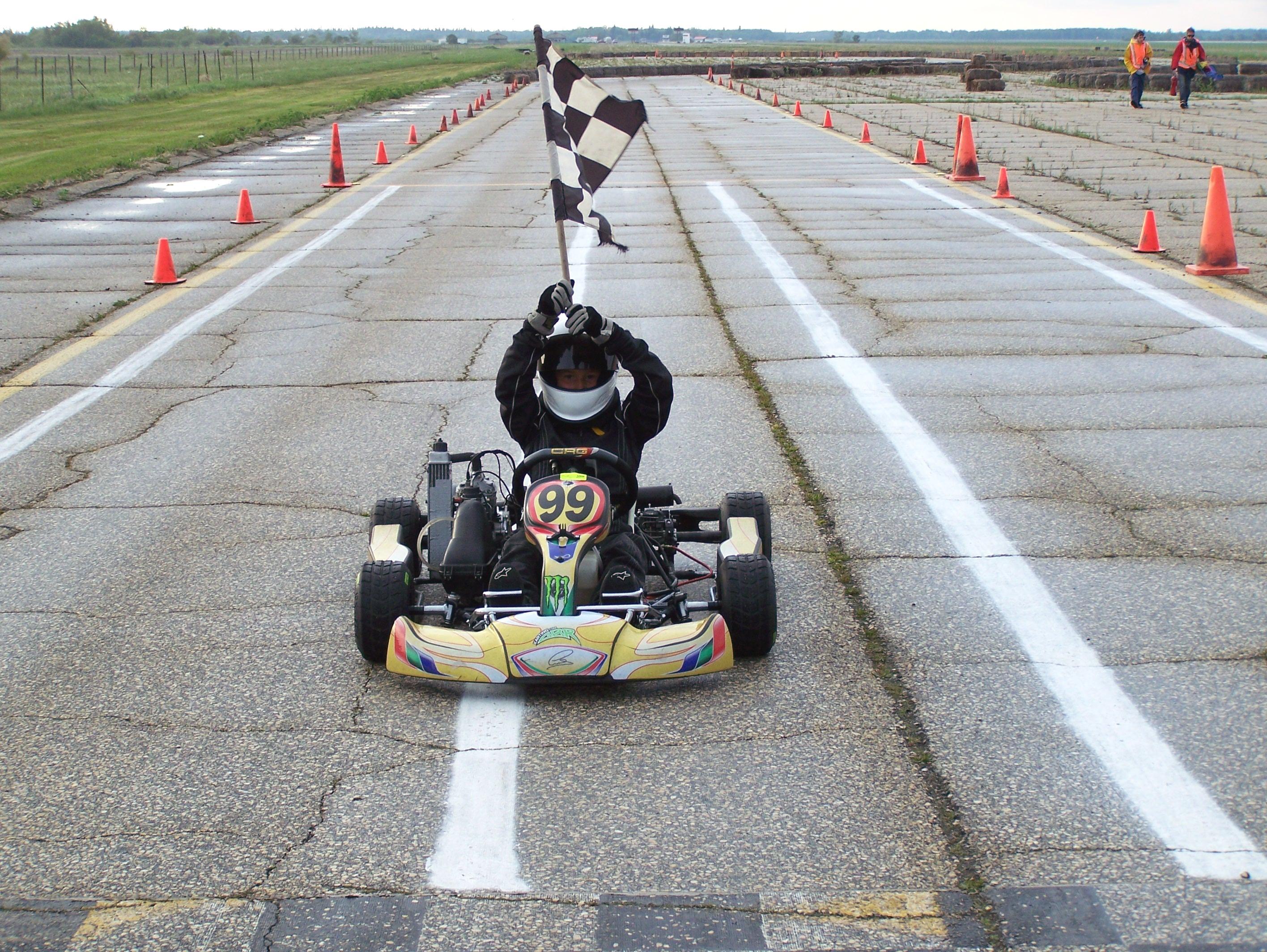 Curtis Veselinovich wins Rotax Micro Max Class