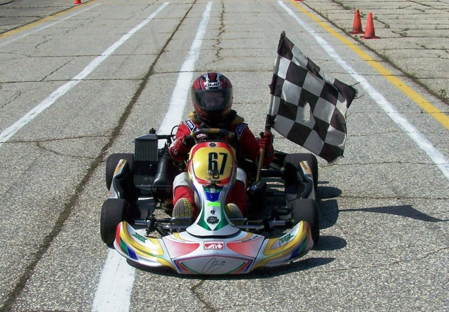 Junior Rotax Victory Lap
