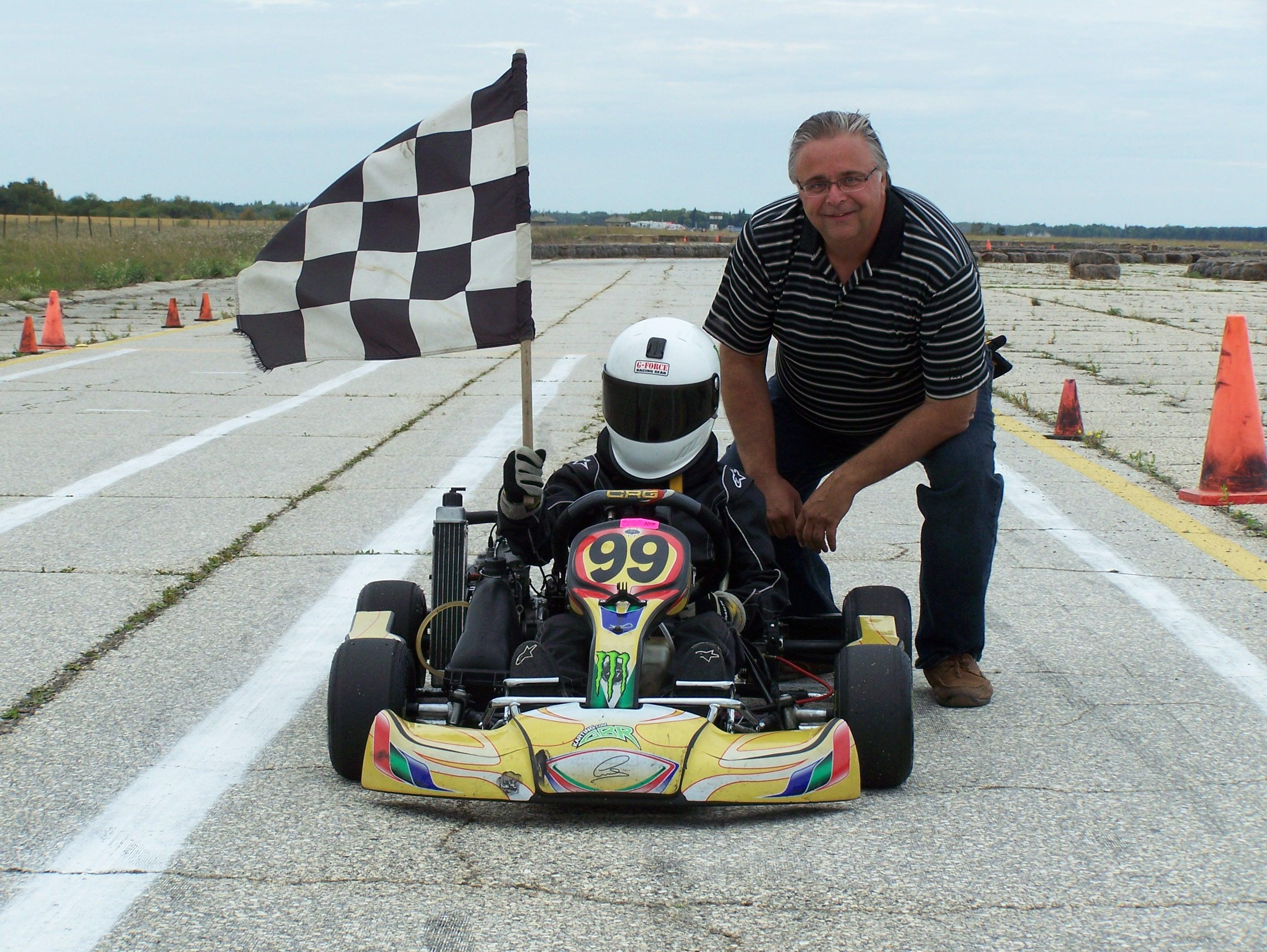 Curtis Veslinovich & father MKA Enduro Micro Max Class Winne