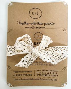 Rustic Invitation & lace
