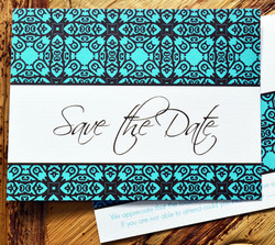 turquoise save the date