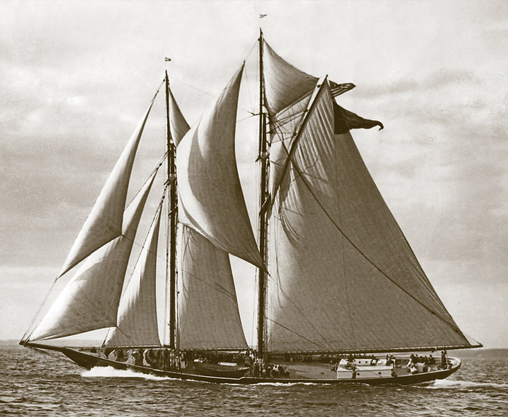 Gertrude L. Thebaud raced in the International Fishermen's Cup in 1930.