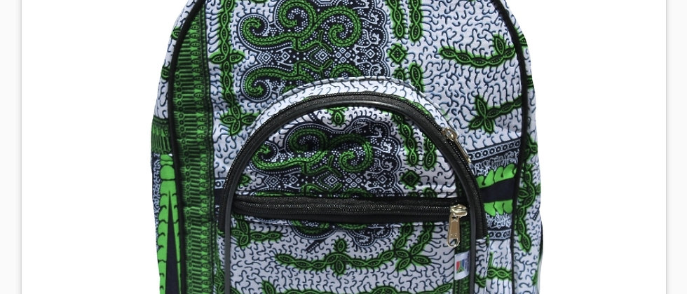 Green Patterned Backpack