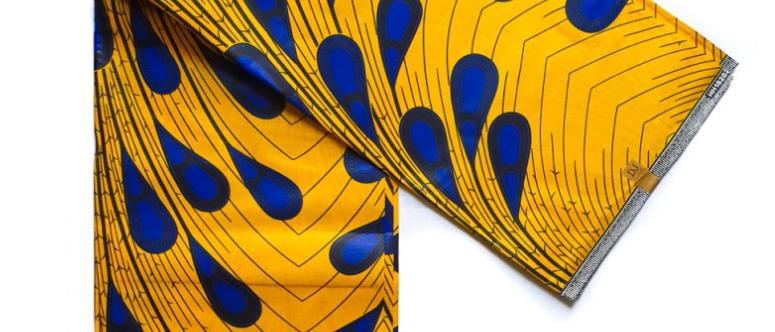 Blue Teardrop Fabric