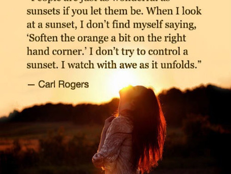 Let us be sunsets...