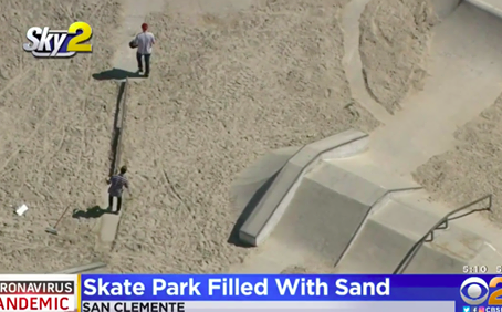 California city dumps 37 tons of sand into a skate park to prevent kids from skating