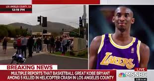 WHILE REPORTING KOBE BRYANT DEATH, MSNBC ANCHOR SOMEHOW SAYS 'N*GGERS' INSTEAD OF 'LAKERS'