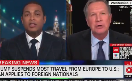 VIDEO: CNN's Don Lemon loses it after John Kasich said Trump address was just fine