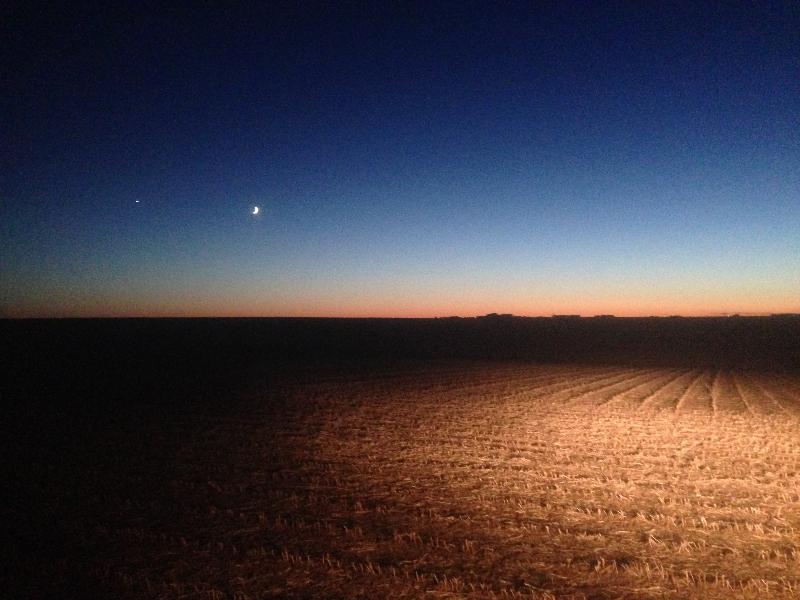 O'Brien County, Iowa at Night