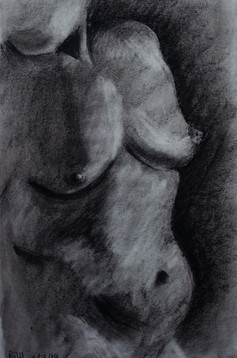 10 minute charcoal drawing