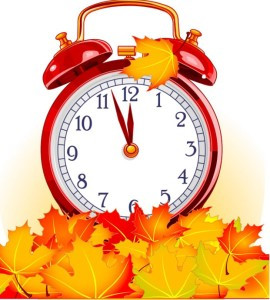 Fall hours begin November 1