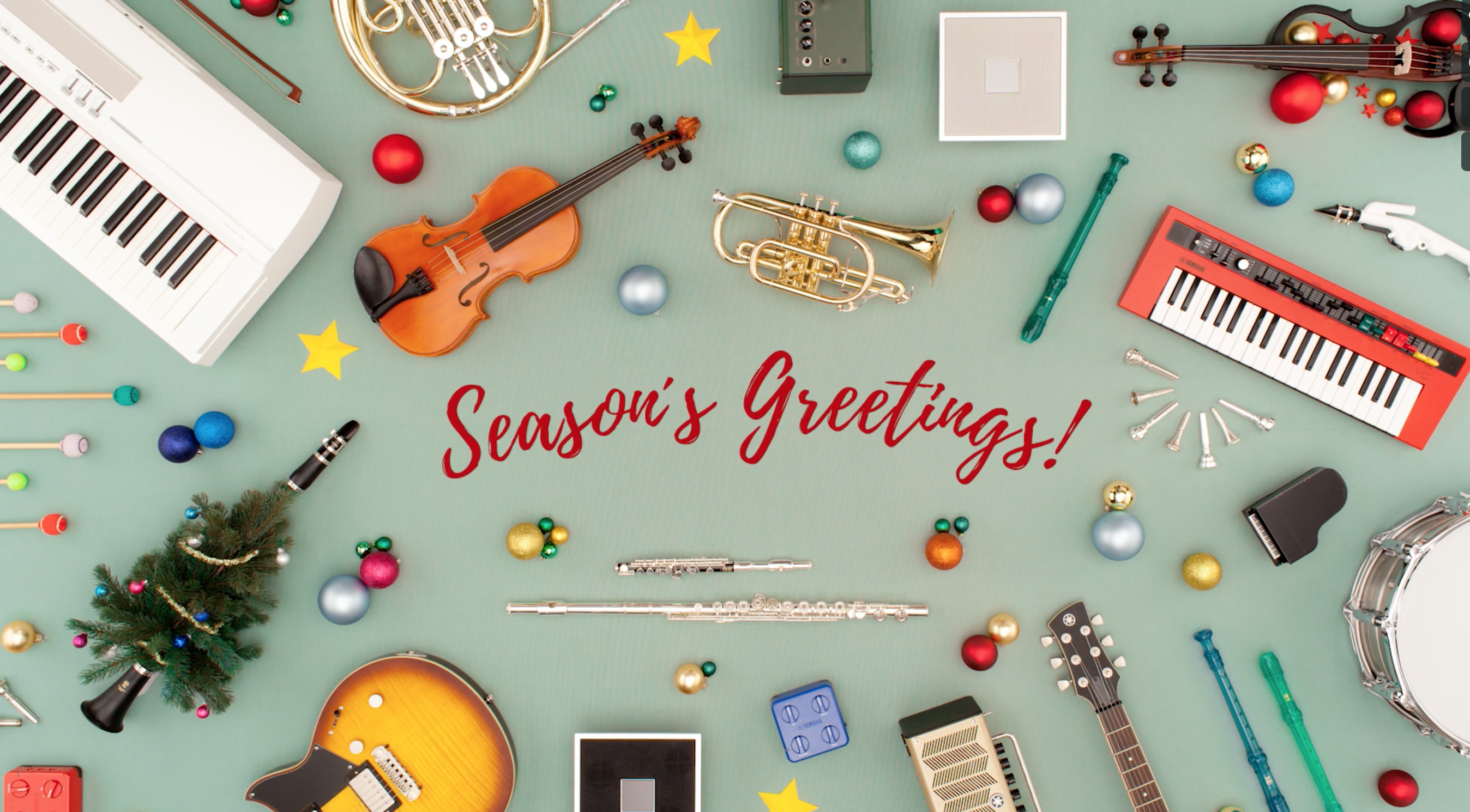 """Season's Greetings"" of Yamaha"