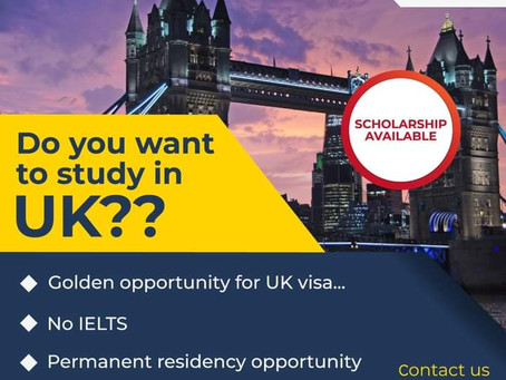 Study in UK with No IELTS.