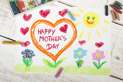 Happy mothers day card made by a child.j