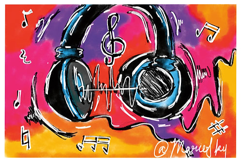 """""""Music To My Ears"""" 4x6 Magnet"""
