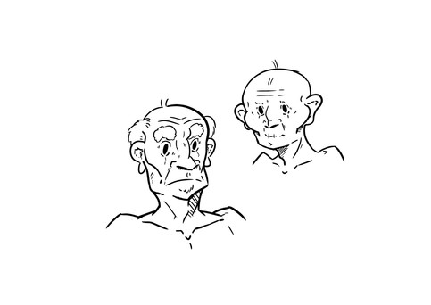 Character Design Old people