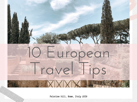 10 European Travel Tips