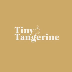 Tiny Tangerine on Sunny Yellow