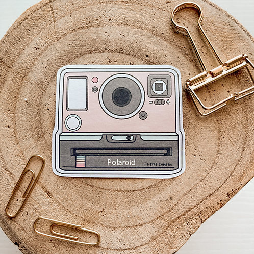 Peachy Polaroid Sticker