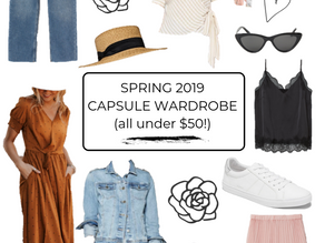 Spring 2019 Capsule Wardrobe: All Under $50!