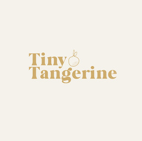 Tiny Tangerine on cream