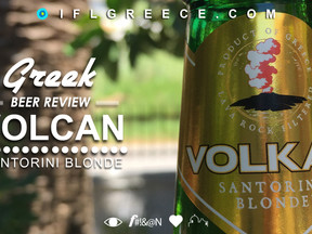 Greece's Most Unique Beer. Volcan Santorini Blonde