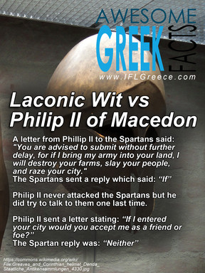 Awesome Greek Facts - Laconic Wit vs Philip II of Macedon