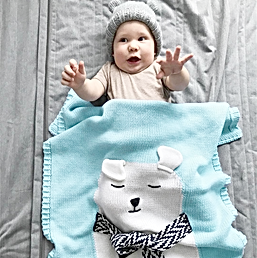 Плед Kids Collection (blu_rose_grey)