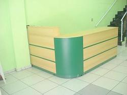 Balcão Curva Marfim Verde