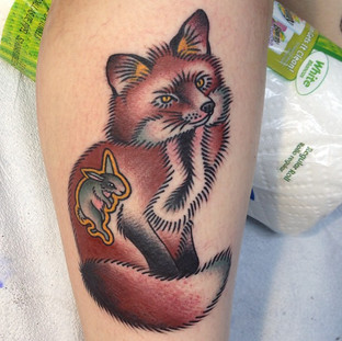 Color Fox Tattoo