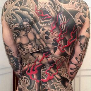 Underwater Backpiece Tattoo