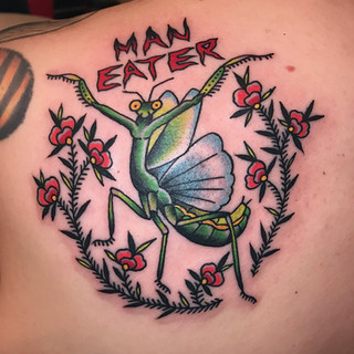 Man eater color tattoo