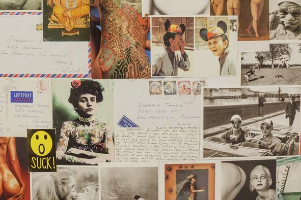 Vintage postcard wall