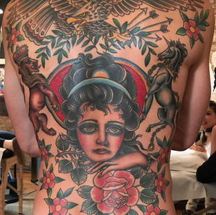 Full traditiona back piece