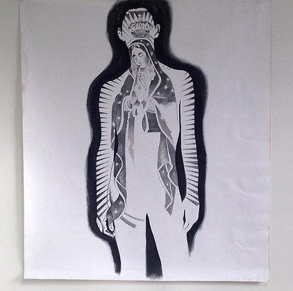 Figure w/ Virgin De Guadalupe