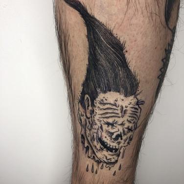 Fantasy skull tattoo