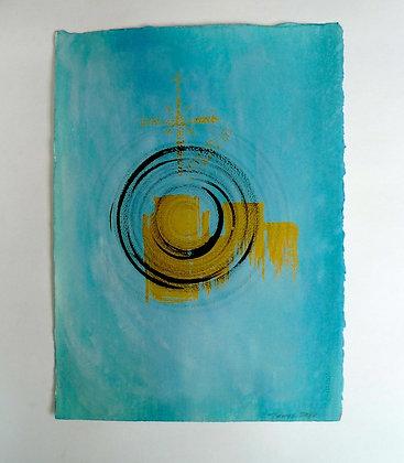 Spiral in Blue