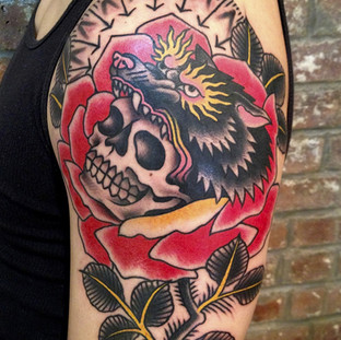 Day of the dead and rose