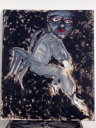 MERCE Cunningham Portrait w/ Zapotec Dance Mask