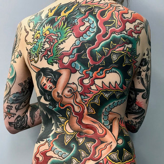 Full color back piece