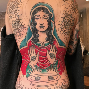 Mother Mary back piece