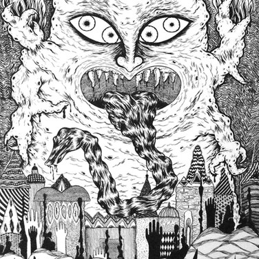 Illuminati black and white illustration